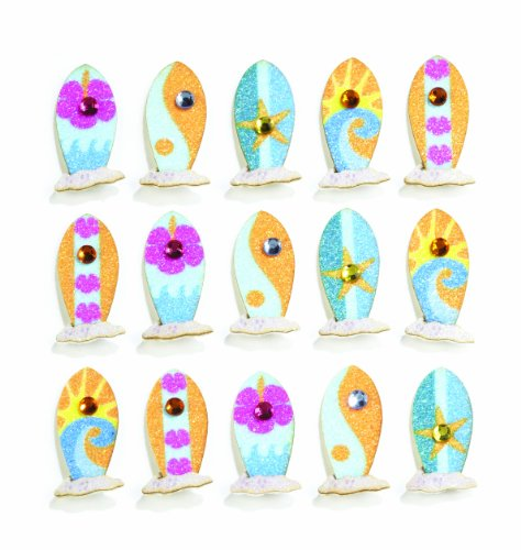 Jolee's Boutique Repeats Dimensional Stickers, Surf Board