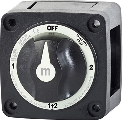 (Blue Sea Systems m-Series Mini Selector Battery Switch, Black)