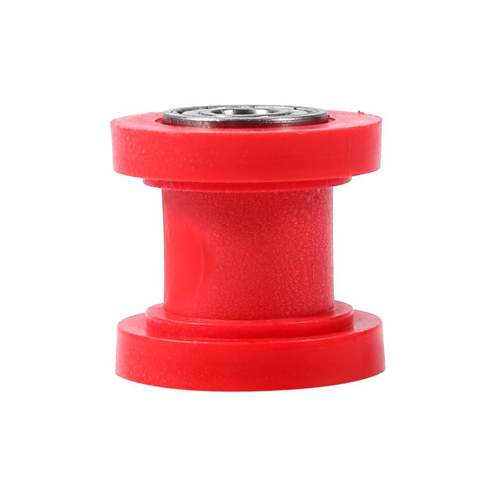 Universal 8 mm Pulley Chain Roller Slider Tensioner Wheel Guide for Motorcycle Pit Dirt Mini Bike Atv(Red) Keenso