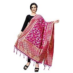 Perfectblue Women's | Women's Kora Silk Banarasi Dupatta/Chunni
