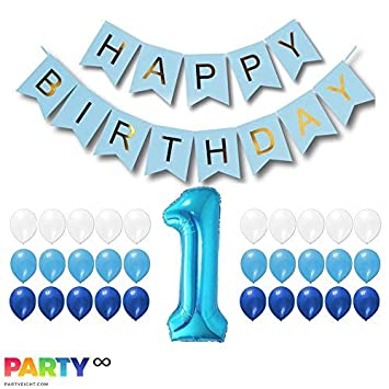 amazon com partyeight first birthday party 1st birthday baby boy