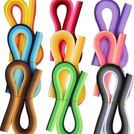 byou Quilling Strisce di Carta, Set di Strisce di Carta per Quilling 900 Pesci 5mm Colori Assortiti per Mestieri 39cm Lunghezza