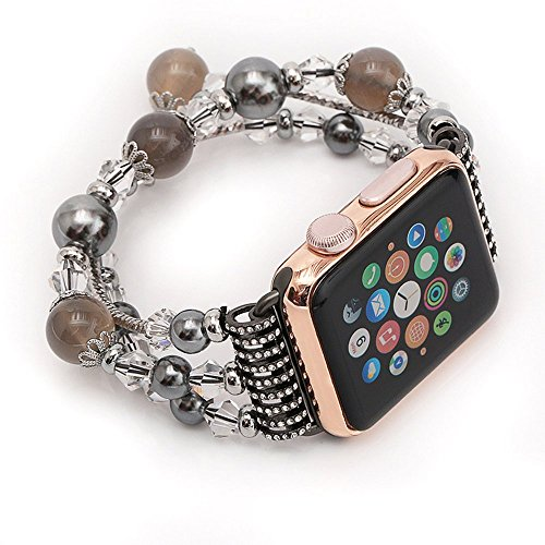 Leefrei Watch Band Jewelry Bangle Adjustable Bracelet for Apple Watch Series 3 Series 2 and Series 1 42mm - ()