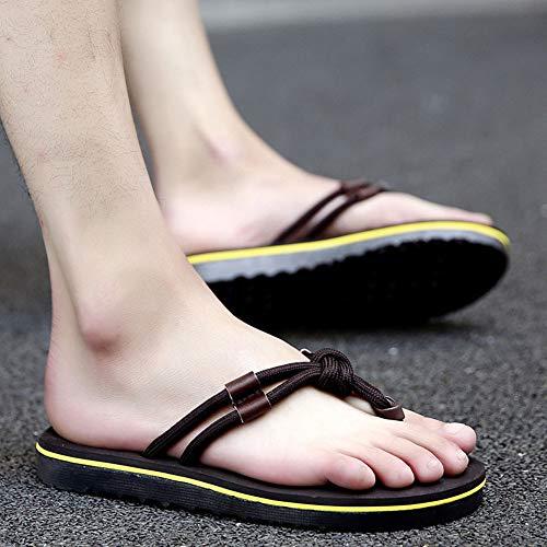 44 Uomo Scarpe Shower Unisex Gizeh Piscina Spiaggia Sandali Pantofole Nero Infradito All'aperto Ysyang Ciabatte OEqnd5wO