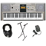 Yamaha YPT-320 61 Key Personal Keyboard with AC Adapter, Deluxe Keyboard Stand and Professional Headphones