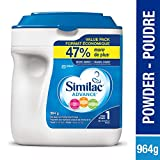 Similac Advance Step 1 Non-GMO Baby Formula Powder, 964g, 0+ Months, Blue