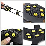 StyleZ 10-Stud Spikes Anti Slip Snow Ice Grips Over Shoe Traction Cleats Rubber Crampons Slip-on Stretch Footwear