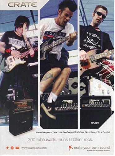 Watts Crate (Print ad: 2001 Crate Amps, Atushi Nakagawa, Little Dave Teague, Clinton Calton