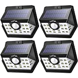 #4: LITOM Classic Solar Lights Outdoor, 20 LED Wireless Motion Sensor Lights(White Light), 270°Wide Angle, IP65 Waterproof, Easy-to-install Security Lights for Front Door, Yard, Garage, Deck, Porch-4 Pack