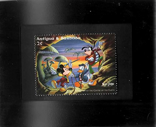 Tchotchke Framed Stamp Art - Disney - Mickey, Donald & Goofy Journey To The Center of The Earth