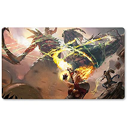 Playmats - Fall of The Titans - Juego de Mesa de Juego MTG Playmat ...