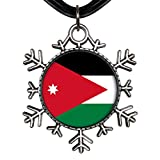 GiftJewelryShop Ancient Style Silver Plate Jordan flag Snowflake Charm Pendant Necklace
