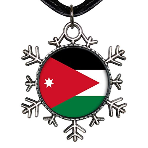 GiftJewelryShop Ancient Style Silver Plate Jordan flag Snowflake Charm Pendant Necklace by GiftJewelryShop