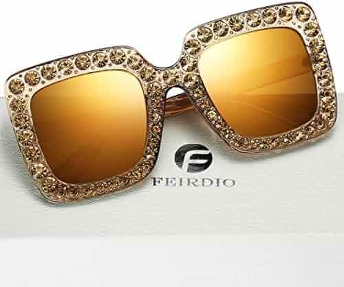 648ac2a93f Polarized Wayfarer Sunglasses For Men– FEIRDIO Retro Metal Frame Sunglasses  For Women 2262
