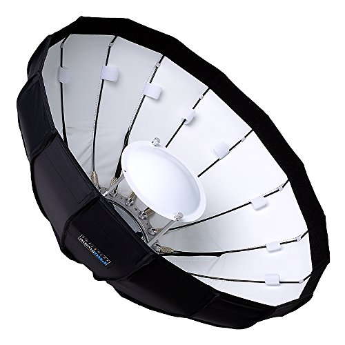 Fotodiox EZ-Pro 24in (50cm) Collapsible Beauty Dish Softbox with Elinchrom Speedring Insert by Fotodiox