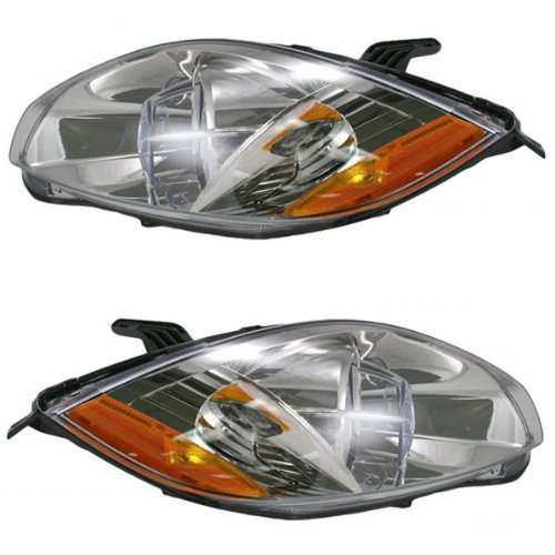 2006 2007 Mitsubishi Eclipse 2-Door Coupe (Built Before 1/12/07 Production Date) Headlight Headlamp Composite Halogen Front Head Light Lamp Set Pair Left Driver And Right Passenger Side (06 07)