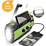 AONCO Solar Hand Crank Portable Radio, NOAA Weather Radio for Household and Outdoor Emergency with AM/FM/WB,3 Gear LED…