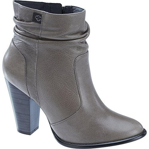 Boot Grey Davidson Harley Stonebrook Black Leather Grey Label Womens Low Cut FpaanUO