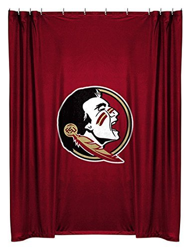 Florida State Seminoles ( University Of ) NCAA Bathroom Shower Curtain by Sports Coverage by Zhiqing