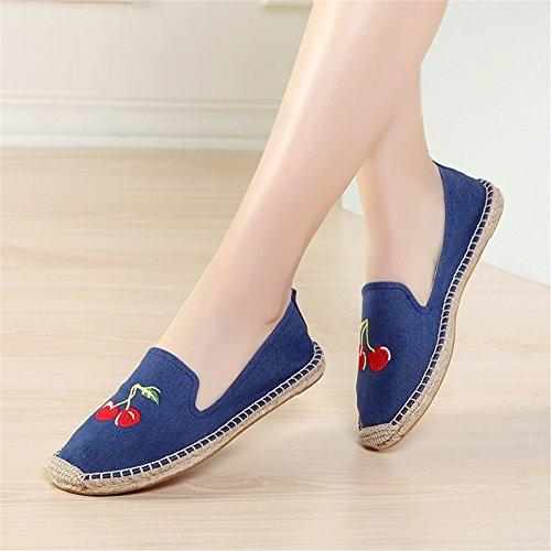 Ons les Printemps Slip Chaussures Femme Confort HUAN B Automne en Été de Mocassins et Lin Pour Casual dOYwx7