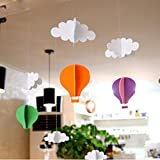 Hot air balloon stereo DIY felt ornaments party decorations birthday party children's rooms House layout