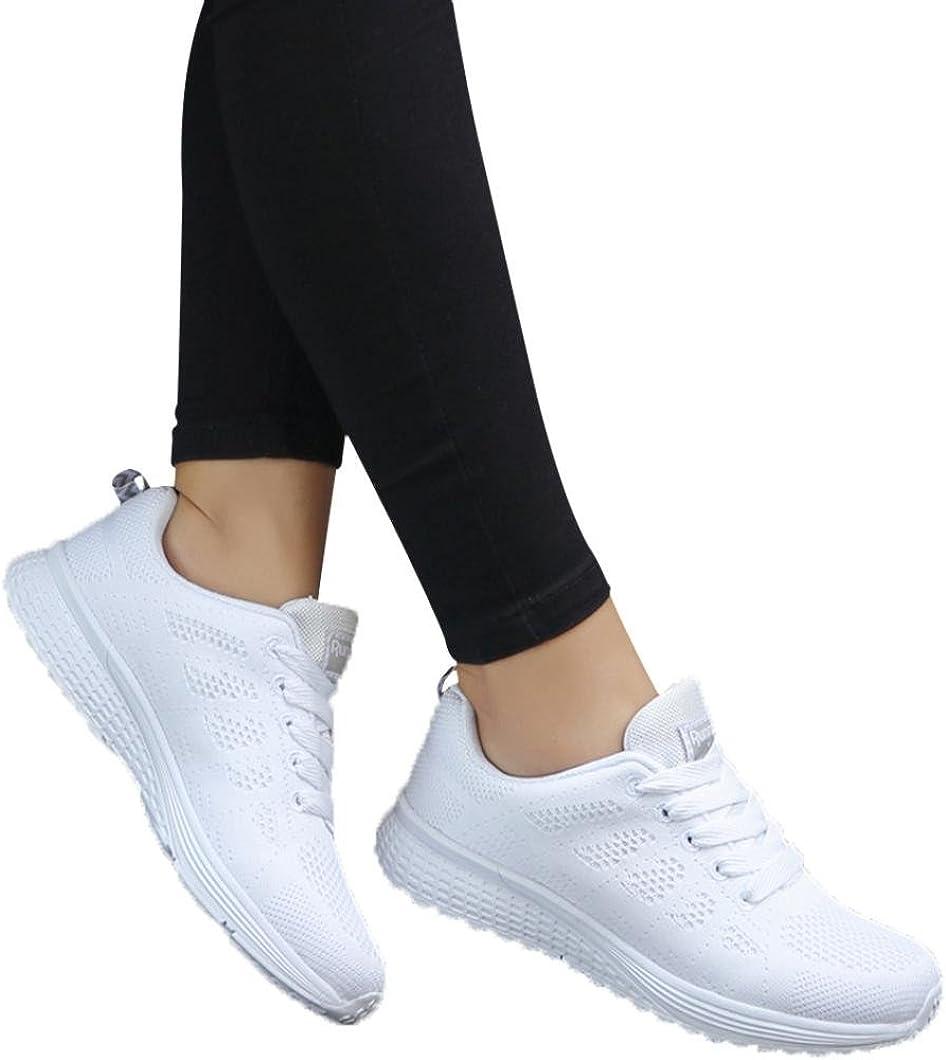 Mode Mesh Atmungsaktive Laufschuhe Schn/ürer Sportschuhe Trainer Schuhe Freizeitschuhe Zarupeng Damen Flache Turnschuhe