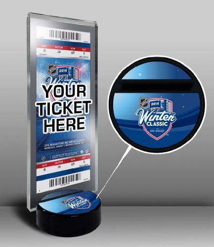 NHL Detroit Red Wings 2014 Maple Leafs vs. Red Wings Winter Classic Ticket Display Stand, Regular, Black