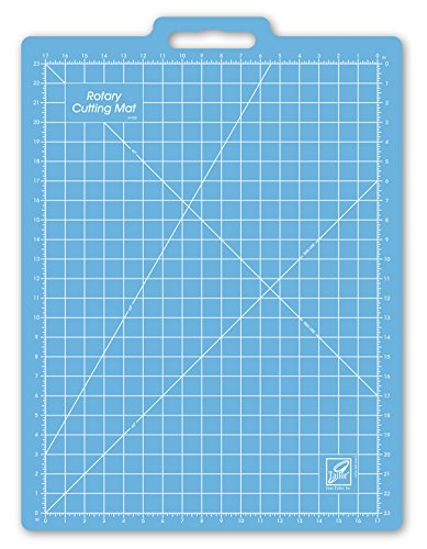 Gridded Rotary Mat (June Tailor 18-Inch-by-26-Inch Gridded with 17-Inch-by-23-Inch Grid Rotary Mat With Handle)