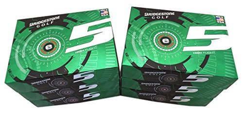 6 Dozen NEW Bridgestone e5 High Flight 72 Golf Balls 2015 - White by Bridgestone (Image #1)