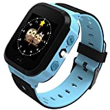 ANDROSET Kids GPS Tracker SIM Card Operated Watch for Children-2 Way Talk (BLUE/ORANGE)