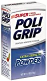 Super Poligrip Denture Adhesive Powder-1.6 oz ( Pack of 4)
