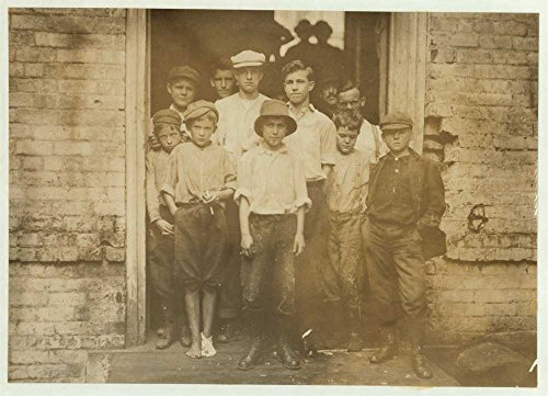 1912 Photo Noon. Group of Doffers and sweepers in Cabarrus Mill, Concord, N.C. These are not all that were working here. Location: Concord, North Carolina. Location: Concord, North - Mills Concord Map