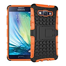 MOONCASE Galaxy A5 Case Detachable 2 in 1 Hybrid Armor Design Shockproof Tough Rugged Dual-Layer Case Cover with Built-in Kickstand for Samsung Galaxy A5 Orange