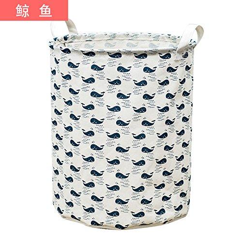 Luckyfree Panier à linge en coton d'vêtements sales jouets Panier Panier de rangement, snack-Débris Medium 35 * 42cm 40L, B