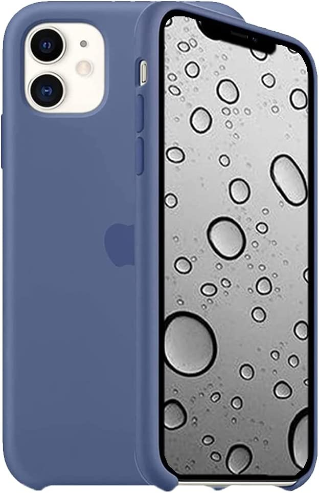 ILJILU Liquid Silicone Case Compatible for iPhone 11 6.1 inch, Gel Rubber Full Body Protection Anti-Scratch Non-Slip and Drop-Proof Compatible with iPhone 11 | Linen Blue