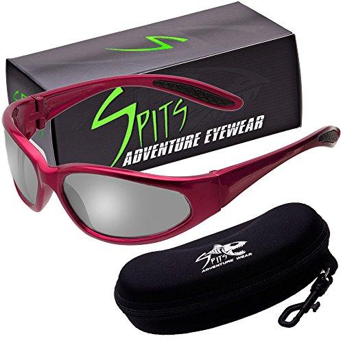 - Hercules Photochromic Light Adjusting Safety Glasses - Red Frame - Clear/Smoke Lenses
