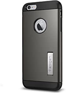 Spigen Slim Armor iPhone 6S Plus Case with Kickstand and Air Cushion Technology Hybrid Drop Protection for iPhone 6S Plus 2015 - Gunmetal