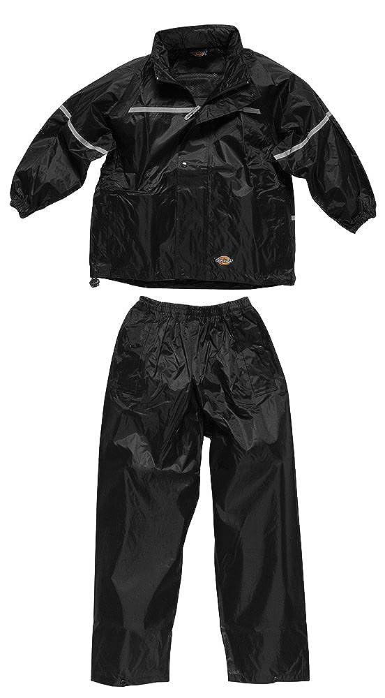 Dickies Childrens Kids Waterproof Trousers Jacket Boys Girls Outdoor School Trips Mac Rain Coat Kagool Jacket Coat & Trouser Trousers Bottoms Set Suit Work Camping Fishing Rainwear Outdoors