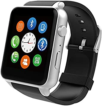Lencise New Smart Watch Fashion Wrist Smartwatch Heart Rate Monitoring Touch With Camera Waterproof for Ios Android Phone Mate: Amazon.es: Electrónica