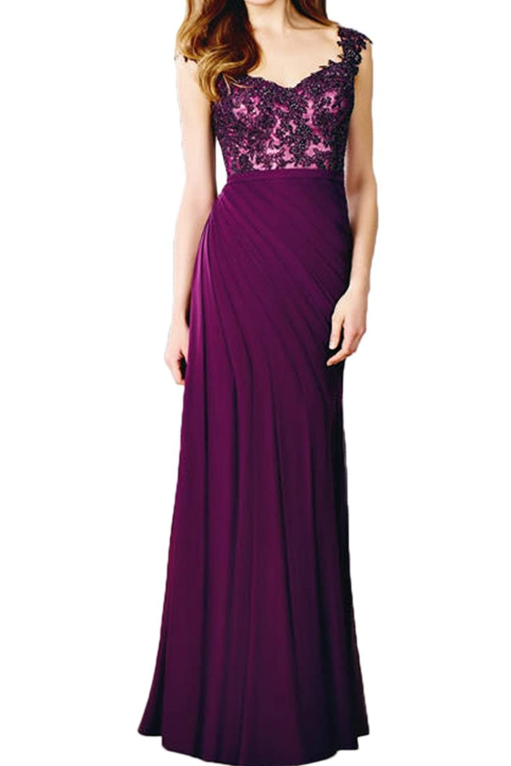 Gorgeous Bride A-line Cap Sleeves Lace Mother of the Bride Evening Dress