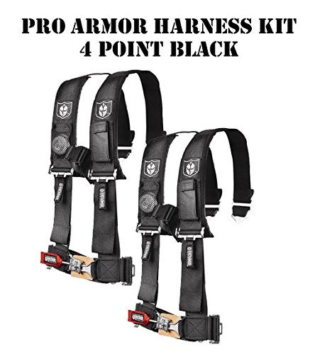 XTR Off-Road Pro Armor Bundle Kit 2 Pro Armor 2'' 4 Point Safety Harnesses - Black by Pro Armor