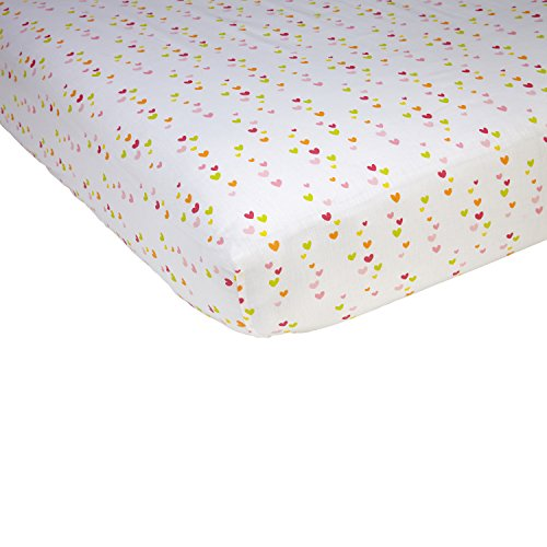 - Sadie & Scout Chelsea - Multi Colored Hearts Crib Sheet