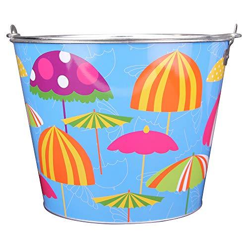 Full Color Aluminum Beer and Ice Bucket Flower Pot (Beach Umbrellas)