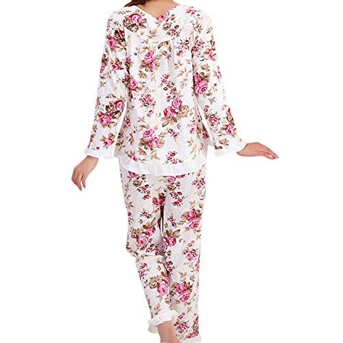 4af33f0c84 low-cost MH-RITA Manga Larga Damas Pijama Set pijama de algodón para Mujer