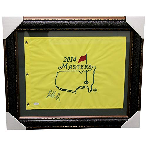 Bubba Watson Framed Autographed Signed 2014 Masters Tournament Pin Flag- JSA Certified Authentic