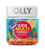OLLY Kids Multivitamin and Omega-3 Gummy Supplement With Zinc & Omega-3s, Berry Tangy, 60 Count - 30 Day Supply