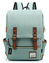 Tibes Cool Style Daypack School Backpack Oxford Fabric Backpack for High School/College Student Light Green