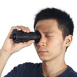 SolUptanisu HD Night Vision Monocular Waterproof Infrared IR Monocular Night Vision Telescope Digital Night Vision Device for Helmet