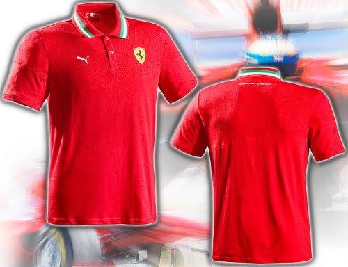 sportwear PUM76086001S Italian Flag Polo Scuderia Ferrari Rot Gr/ö/ße S