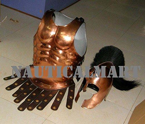 銅アンティークギリシャマッスルArmor Cuirass withヘルメットNAUTICALMART   B01LXFSUM7